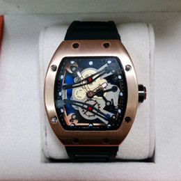 Wholesale 2016 New Luxury brand Skull sport Watches men Casual Fashion Skeleton quartz watch