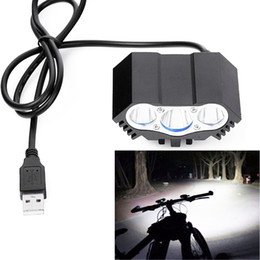 Wholesale 3x XML T6 LED Bike Light Bicycle Headlight Bicycle Accessories v usb Bike LED Head Front Cycling Torch