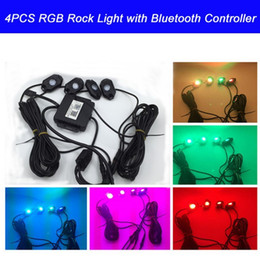 Wholesale RGB LED Rock Light With Bluetooth Cell Phone Timing Music Mode Flashing Automatic Control Under OffRoad Truck SUV ATV
