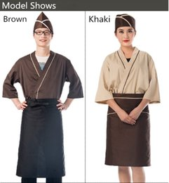 Wholesale Customized Korean Japanese cuisine clothing Japanese style restaurant chef and attendant uniform