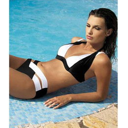 Wholesale This year New Summer Sexy Patchwork Bikini Woman Swimsuit Bandage Swimwear Best Soft Swimsuits Bathing Suit six colors hight quality