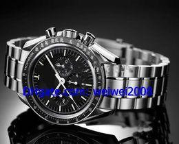 2017 cru mens watch automatique Vente en gros - Luxe Vintage Professional Lune Automatique Mens montres-bracelets de Montre en acier inoxydable pour hommes abordable cru mens watch automatique