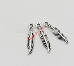 Antique Silver Tone Leaf Charms Pendants Fashion Jewelry DIY Jewelry Making Handmade 19x7mm jewelry making