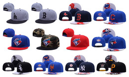 Wholesale Yankees Hip Hop MLB Snapback Baseball Caps NY Hats MLB Unisex Sports Pittsburgh Pirates Adjustable Bone Women Men Casual Blue Jays