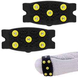 Wholesale Snow Ice Climbing Anti Slip Spikes Grips Crampon Cleats Stud Shoes Cover