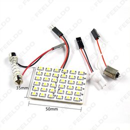 Wholesale 100set White Car SMD LED Light with adapters T10 BA9S Festoon Dome light