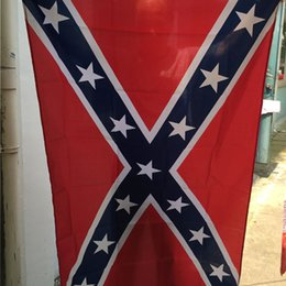 Wholesale The Truth About the Confederate Battle Flags Two Sides Printed Flag Confederate Rebel Civil War Flag America National Polyester Flags