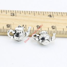 Wholesale 20pcs Hot Sale Antique Silver Tone Teapot Charms Pendants for Jewelry Making DIY Handmade Craft x12mm B324