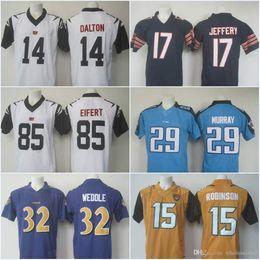 Wholesale Color Rush Andy Dalton AJ Green Tyler Eifert Eric Weddle Allen Robinson Rush Football Limited Stitched Jerseys
