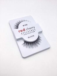Wholesale 120pair Natual red cherry False Eyelashes High Quality Fake Eye Lashes hand made eyelashes Extension red cherry Makeup