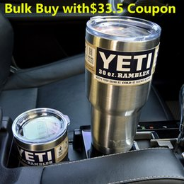 Wholesale Fashion YETI oz Cups Cooler YETI Rambler Tumbler For Travel Vehicle Beer YETI Mug Tumblerful Bilayer Vacuum Insulated with coupon