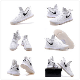 2017 kd chaussures de vente mens 2016 Hot Sale KD 9 All White Chaussures de basket-ball Hommes KD9 Oreo Grey Wolf Kevin Durant 9s Chaussures de sport d'entraînement des hommes Warriors Accueil Taille 7-12 abordable kd chaussures de vente mens