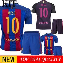 Wholesale kit new Barcelonaes messi jerseys neymar jr Jordi Alba Ivan Rakitic Xavi Iniesta Suarez jerseys shirt