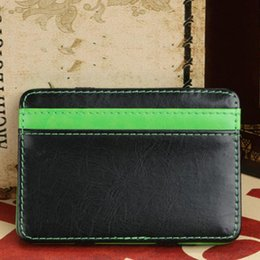 Wholesale-Brand new Mini Faux leather magic Bifold wallets fashion designer mens money clip
