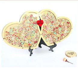 Wholesale Wedding Guest book Personalized Drop Top Drop box Wedding Alternative Guest Book Hearts Wedding Guestbook Alternative CM CM Hearts