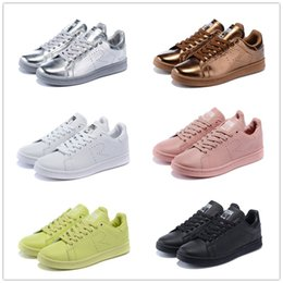 Wholesale Raf Simons Stan Smith Spring Copper White Pink Black Fashion Shoe Man Casual Leather brand woman shoe man shoe Flats shoe Sneakers