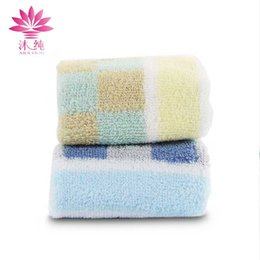 muchun Brand Lattice Stripes Towel 100% Nature Cotton Soft Fabric Towel Absorbent Washrag Washcloth Home Textiles Shower Cleaning Towel