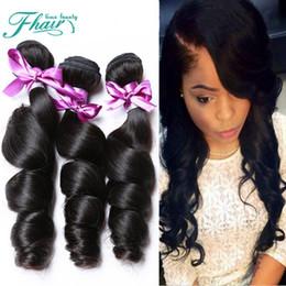 "9A Peruvian Hair Bundles 3Pcs Lot 100% Loose Wave Hair Factory Selling Cheap Hair Peruvian Hair Weave Online 10-30"" Inch Length"