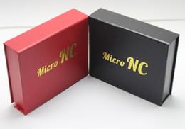 Promotion bong d'huile miel Red Black Honey Paille Micro NC kit, les deux Quartz Conseil pointe de titane, 10mm En Stock! Tubes d'eau en verre