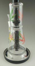 Descuento aparejo de jaula Los más nuevos 2016 bongs de cristal de la plataforma petrolera venden al por mayor la nueva jaula gemela bongs júnior tubo de agua de cristal pipa de cristal que fuma