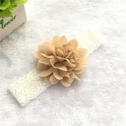 Les nouvelles fleurs de mousseline ajoutent la bande de cheveux de soie de bourgeon vendant les cheveux de bébé avec les cheveux La bande de cheveux des enfants européens et américains de mode à partir de nouveaux bourgeons floraux fabricateur