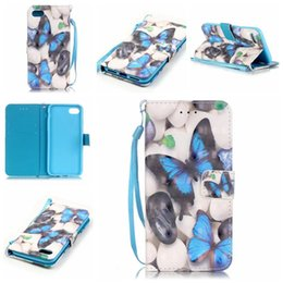 3D Printing pattern bear butterfly Leather wallet Flip Case cover For iphone 7G 4.7 inch touch5 6 6 6S PLUS 5S SE