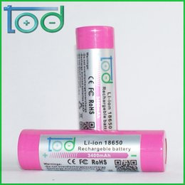 Factory directly sell TOD 18650 3.7V 3400 mAh Rechargeable Lithium Battery quality and quantity assured