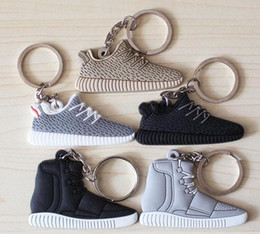 Wholesale Cheap Boost Keychain Mix Color new Sneaker Key Chain Kids Key Rings Key Holder Llaveros Chaveiro Porte Clef