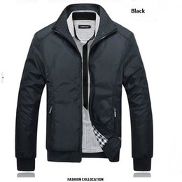 Fall-Outdoor Jackets High Quality Mens Business Coat 2016 New Arrivals England Style Stand Collar Casual middle aged man Clothing