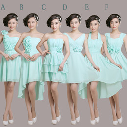 Strapless Short Chiffon Junior Bridesmaid Dress 2016 Lace Up Bridesmaid Dress 6 Style Mixed Order Fast Shipping