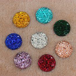 14mm 200pcs Acrylic Crystal Superior Taiwan Flat Back Acrylic Round Circle Shape Acrylic Rhinestone beads ZZ223