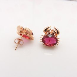 Wholesale Childrens Jewelry k Rose Gold Filled Baby Stud Earrings With Lovely Animal Design