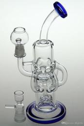 Wholesale Bongs más barato Reciclado de vidrio vidrio concentrado de plataformas de perforación de agua pipe14 mm tubería de agua con clavo domo