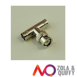 BNC Male to 2 Female Coaxial T-Adapter T-Connector
