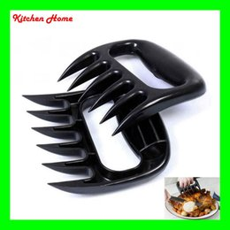 Wholesale DHL Fedex Free Bear Meat Claws BBQ Meat Chicken Paws Tools Shredding Lift Food Tongs Forks Black and White Colors
