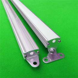 Wholesale 10m X1m inch good heat sink led aluminium profile for led rigid strip led cabinet triangle bar light with strip