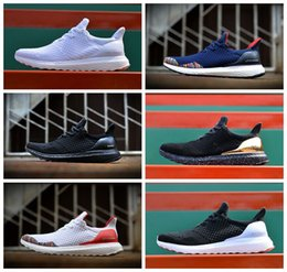 Wholesale 2016 Men Women Athletic Hypebeast X Uncaged Ultra Boost Brand Professional Running Sneaker Shoes Black White Blue Grey Red