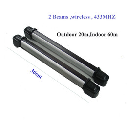 break perimeter alarm photoelectric dual beam sensor security system motion detector ir beam detector for gsm alarm system 433MHZ