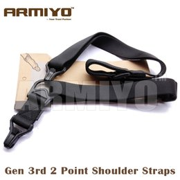 Armiyo Tactical Gen 3rd Shoulder Strap Airsoft Mission Sling Black Dark Earth Green CP ACU 5 Colours Hunting Gun Accessories