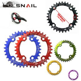 Wholesale SNAIL Ultralight BCD T T T A7075 Alloy MTB Bike Bicycle Narrow Wide Chainring Oval Round Chainwheel Cycle Crankset