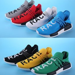 Wholesale 2016 Philippine II Paragraph HUMAN RACE X NMD Pharrell Joint Men s Shoes Casual Shoes Sports Network Men Sneaker Running Canvas