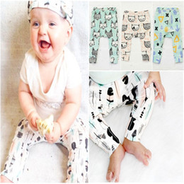 Wholesale 2017 INS Pants Boys Girls Cotton Harem Pants Cartoon Pands Teepee Pants For Toddler Baby Children Clothes Trousers Bibs Burp Cloths Scarves