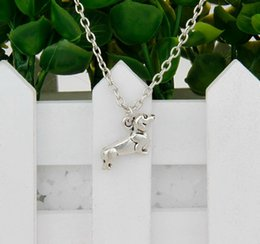 Wholesale Brand New Hot Antique Silver Sausage Dog Charm Amulet Pendant Clavicle Short Necklace Jewelry Findings Friendship Gift A056