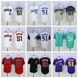 Wholesale Arizona Diamondbacks Randy Johnson Jersey Cooperstown Fashion Randy Johnson Baseball Jerseys Diamondbacks Vintage Red Black White Grey