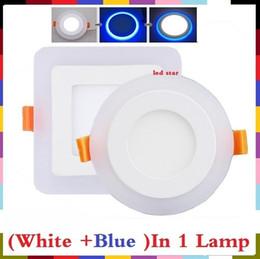 2017 синяя панель LED Тонкий Ультра тонкая панель 6W 9W 16W 24W Светодиодная панель Круглый LED Встраиваемый Потолочный панель От Синий Cash + белый 2-х цветов дешево синяя панель