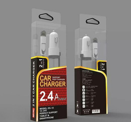 Wholesale 2 in charging cable New A Auto Car Charger USB Cigarette Adapter Lighter Charger for iphone samsung samrtphones with retail box
