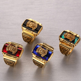 Wholesale 2016 New arrived MM titanium steel luxury rings Men s Walton tiger Rings
