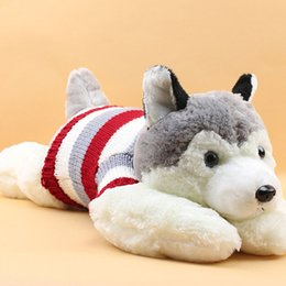 Wholesale Hot Sale cm Huskies Plush Funny Lovely Soft Dogs Toy Best For Kids HT2063