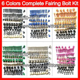 Wholesale 6Colors Fit ALL bikes Fairing bolts full screw kit For HONDA KAWASAKI SUZUKI YAMAHA DUCATI BMW TRIUMPH Agusta Aprilia Body Nuts bolt screws