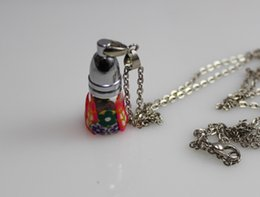 Mini FIMO Aroma Vial Necklace (Assorted Colors),Wish bottle necklace,Wish Bottles,wishing bottles